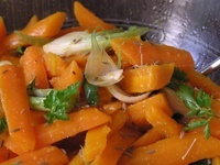 Carottes en salade orange